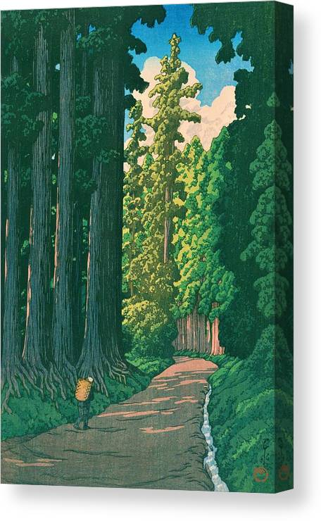 Kawase Hasui Canvas Print featuring the painting Nikkokaido - Top Quality Image Edition by Kawase Hasui