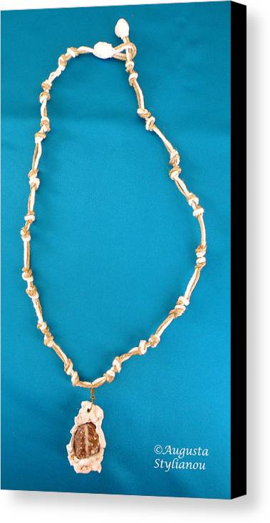 Augusta Stylianou Canvas Print featuring the jewelry Aphrodite Gamelioi Necklace by Augusta Stylianou