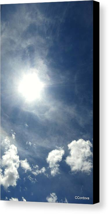 Sky Canvas Print featuring the photograph A Pathway To Heaven by Carmen Cordova