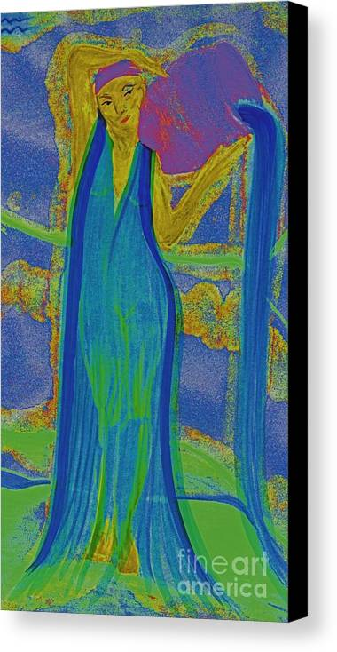 First Star Art Canvas Print featuring the painting Aquarius By Jrr by First Star Art