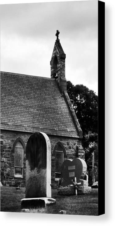 Church Canvas Print featuring the photograph Church In The Woods by Art Dingo