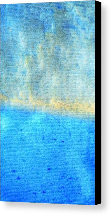 Water Canvas Print featuring the painting Eternal Blue - Blue Abstract Art By Sharon Cummings by Sharon Cummings