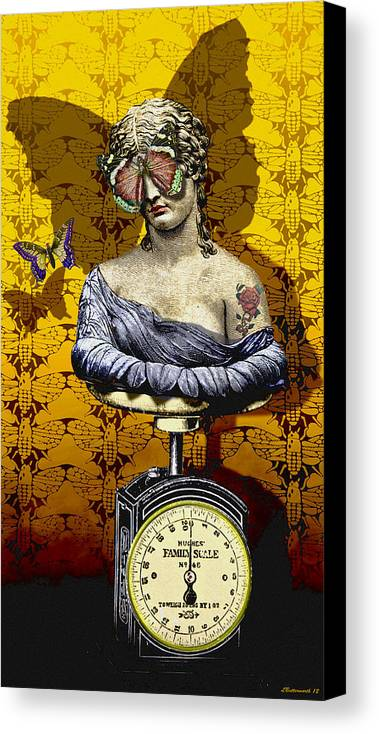 Surrealism Canvas Print featuring the digital art Metamorphosis by Larry Butterworth