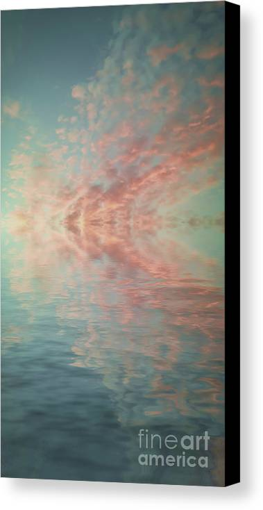 Black & White Canvas Print featuring the photograph Reflection Of Turquoise Skies by Holly Martin