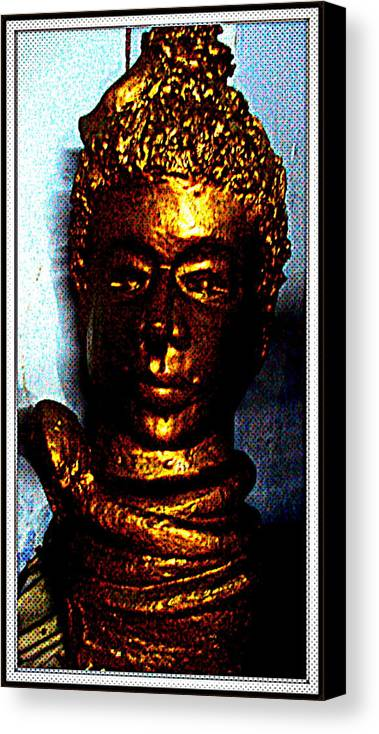 Sculptures Canvas Print featuring the sculpture Lord Shiva by Anand Swaroop Manchiraju