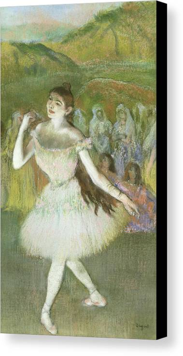 Pink Canvas Print featuring the pastel Pink Dancer by Edgar Degas