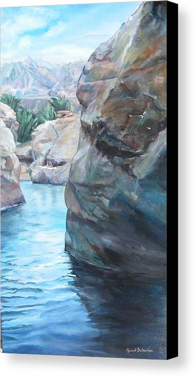 Landscape Canvas Print featuring the painting Canyon by Muriel Dolemieux