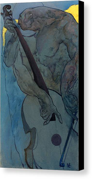 Nude Canvas Print featuring the painting Jan 2 by Valeriy Mavlo
