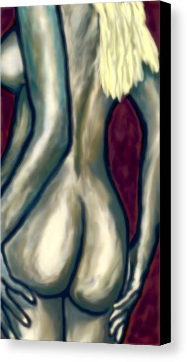 Nude Canvas Print featuring the painting October Nude by Deborah Rosier