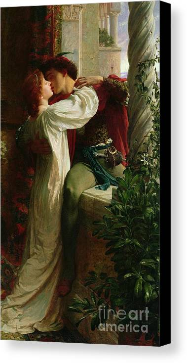 Romeo And Juliet Canvas Print featuring the painting Romeo And Juliet by Sir Frank Dicksee