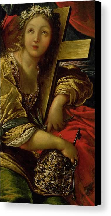Vignon Canvas Print featuring the painting The Catholic Faith by Claude Vignon