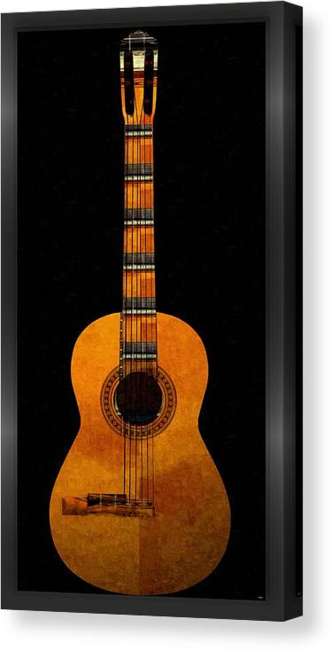 Guitar Canvas Print featuring the mixed media Guitar... by Tim Fillingim