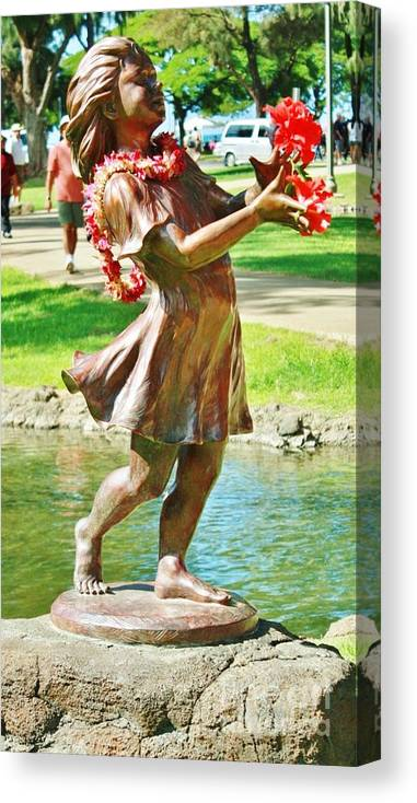 Sculpture Canvas Print featuring the photograph JOY by Craig Wood