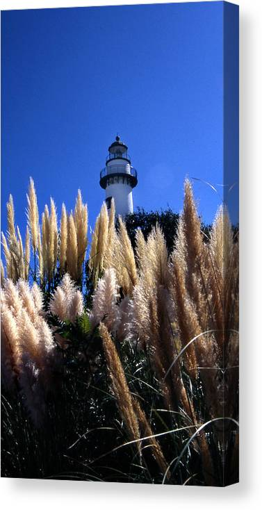 St. Simons Lighthouse Canvas Print featuring the photograph St Simons Lighthouse by Skip Willits