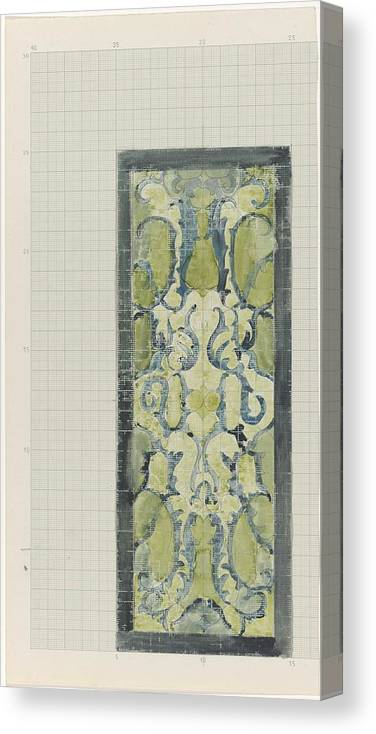 Pattern Canvas Print featuring the painting Decorative Design In Green And Blue, Carel Adolph Lion Cachet, 1874 - 1945 by Carel Adolph Lion Cachet