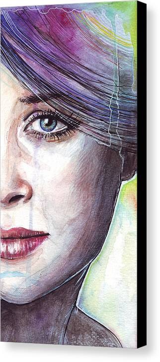 Watercolor Painting Canvas Print featuring the painting Prismatic Visions by Olga Shvartsur
