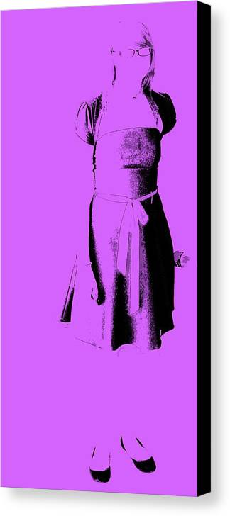 Dress Canvas Print featuring the photograph The Purple Dress by Ed Smith