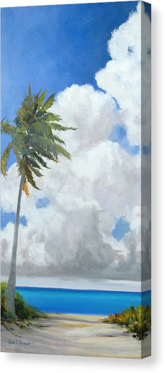 Landscape Canvas Print featuring the painting A Perfect Day by Glenn Secrest