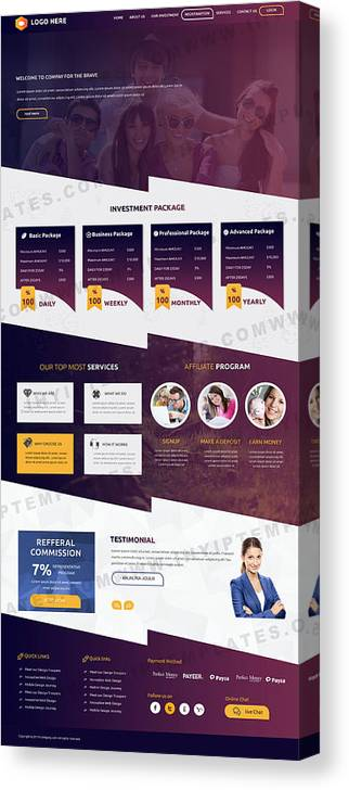 Best Hyip Templates Canvas Print / Canvas Art by IHYIP Templates