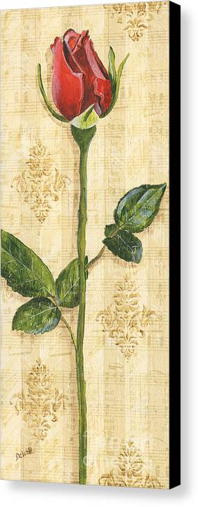 Rose Canvas Print featuring the painting Allie's Rose Sonata 1 by Debbie DeWitt