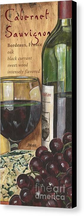 Cabernet Canvas Print featuring the painting Cabernet Sauvignon by Debbie DeWitt
