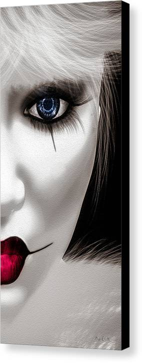Harlequin Canvas Print featuring the painting Eyes Of The Fool by Bob Orsillo