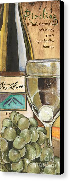 Riesling Canvas Print featuring the painting Riesling by Debbie DeWitt