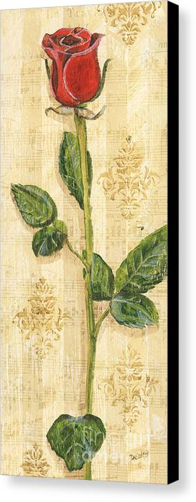 Floral Canvas Print featuring the painting Allie's Rose Sonata 2 by Debbie DeWitt
