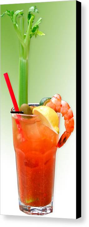 Drinks Canvas Print featuring the photograph Bloody Mary Hand-crafted by Christine Till