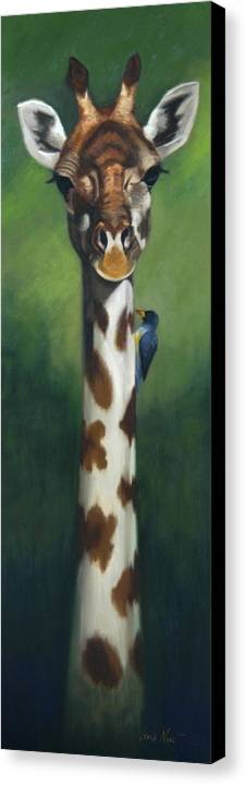 Canvas Print featuring the painting Maggie by Greg Neal