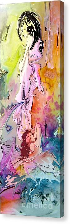Miki Canvas Print featuring the painting Eroscape 09 1 by Miki De Goodaboom