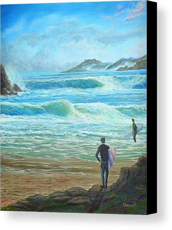 Sea Canvas Print featuring the painting Wait For It---wait For It by William Stewart