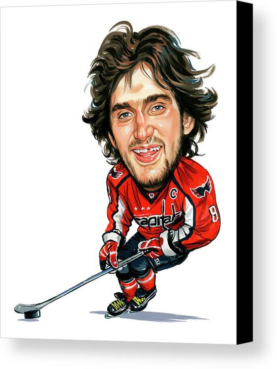 Alexander Ovechkin Canvas Print featuring the painting Alexander Ovechkin by Art