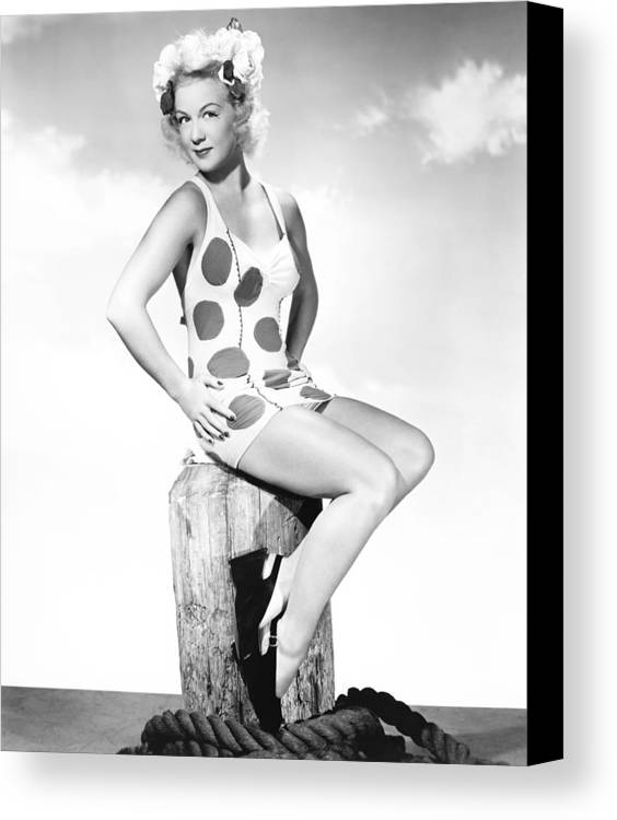 1940s Portrait Canvas Print featuring the photograph Betty Hutton, 1944 by Everett