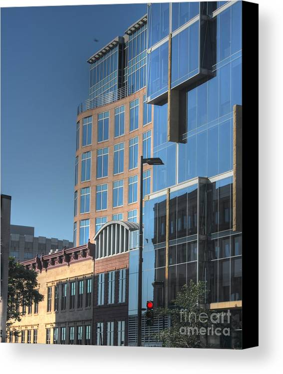 Madison Wisconsin Canvas Print featuring the photograph Blue Morning by David Bearden