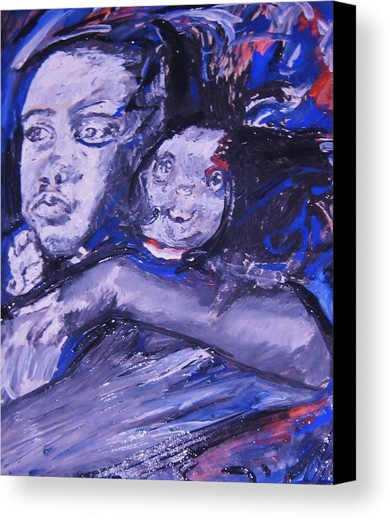 Portraits Canvas Print featuring the painting Changes by Dawn Fisher