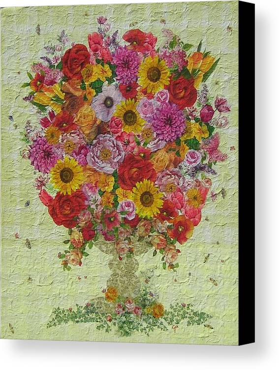 Flowers Canvas Print featuring the painting Flowers by Graziella Pesce