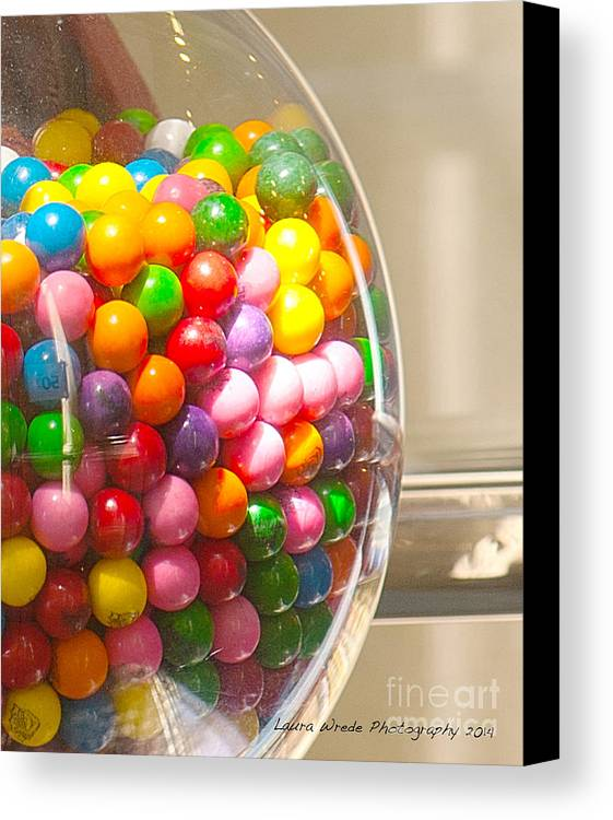 Gumball Machine Canvas Print featuring the photograph Gumball Machine by Artist and Photographer Laura Wrede