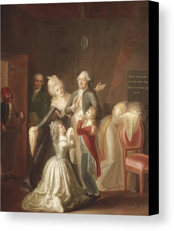Vertical Canvas Print featuring the photograph Hauer, Jean Jacques 1751-1829. Louis by Everett