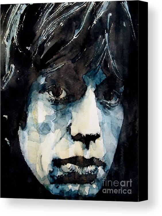 Mick Jagger Canvas Print featuring the painting Jagger No3 by Paul Lovering