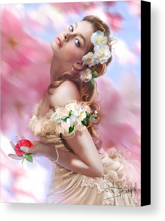 Adult Canvas Print featuring the photograph Lady Of The Camellias by Drazenka Kimpel