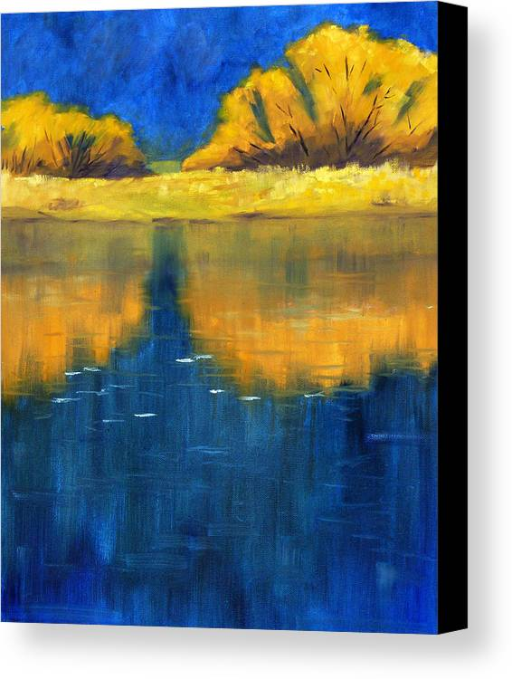 Nisqually River Canvas Print featuring the painting Nisqually Reflection by Nancy Merkle