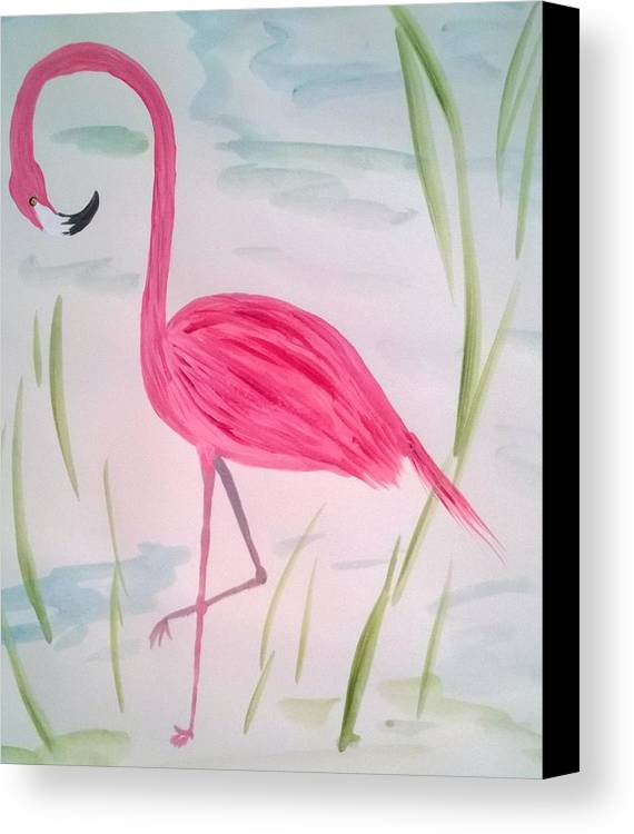 Nature Canvas Print featuring the painting Pretty In Pink by Jeanne Macrides