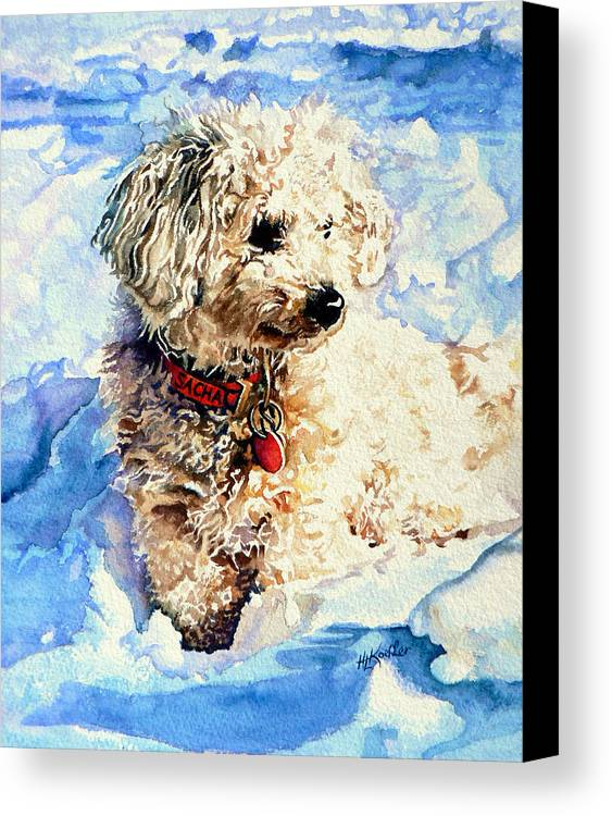 Dog Portrait Canvas Print featuring the painting Sacha by Hanne Lore Koehler