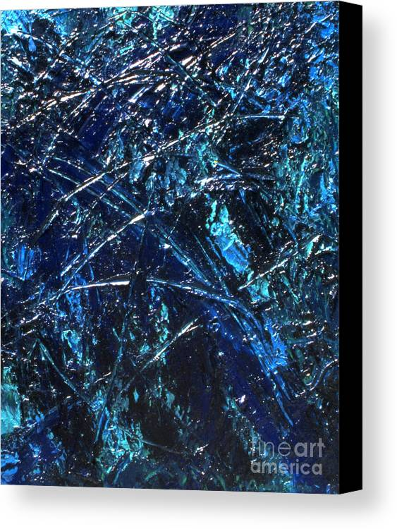 Abstract Canvas Print featuring the painting Transitions I by Dean Triolo