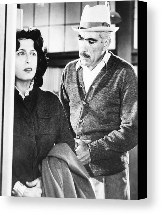 1957 Movies Canvas Print featuring the photograph Wild Is The Wind, From Left Anna by Everett