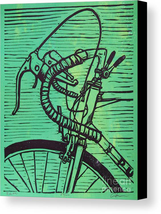 Print Canvas Print featuring the drawing Bike 2 by William Cauthern
