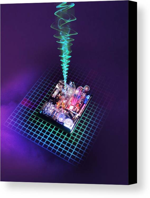Computer Canvas Print featuring the photograph Future Computing, Conceptual Image by Richard Kail