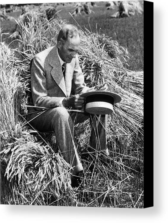 Contemplative Canvas Print featuring the photograph Henry Ford, 1863-1947 by Everett