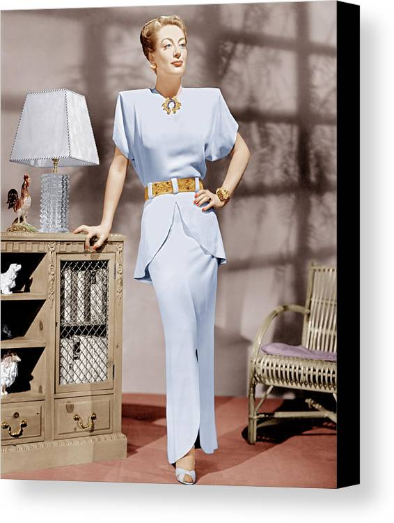 1940s Portraits Canvas Print featuring the photograph Joan Crawford, Ca. 1940s by Everett